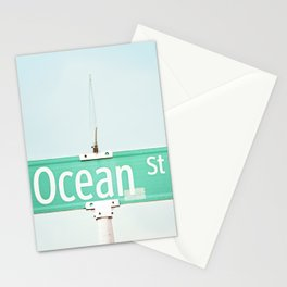 Ocean Photography, Beach Photo, Seashore Decor, Seaside Picture, Coastal Beach House Wall Art Stationery Cards