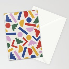 Colorful Geometric Shapes Stationery Cards