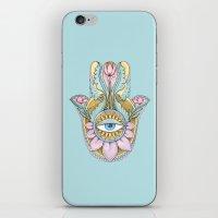 hamsa iPhone & iPod Skins featuring Hamsa  by Natasha Zen