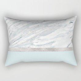 Calacatta verde - silver turquoise Rectangular Pillow