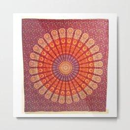 Hippie Wall Hanging Mandala Tapestry Metal Print