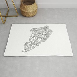 Staten Island - Hand Lettered Map Rug
