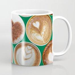 Latte Polka Dots in Winter Green Coffee Mug