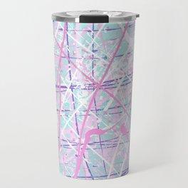 Flight of Color - pink turquoise Travel Mug