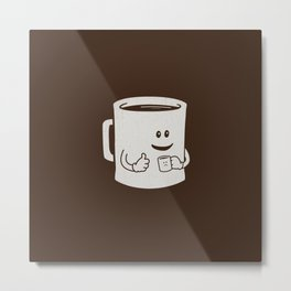 Mugged. Metal Print