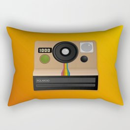 Vintage two step camera (instant photo) Rectangular Pillow
