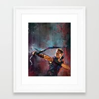 clint barton Framed Art Prints featuring Clint Barton by Wisesnail