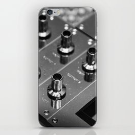 Silver Mixing Desk iPhone Skin