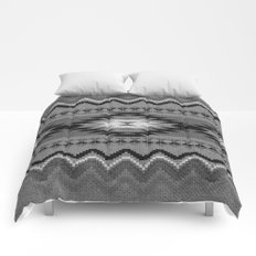 Aztec pattern black and white Comforters
