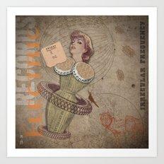 Electric Records #9 Art Print