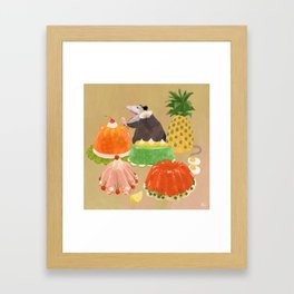 Dinner Party Guest Framed Art Print