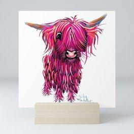 HiGHLaND CoW PRiNT SCoTTiSH ' LoVe HeaRT 2 ' BY SHiRLeY MacARTHuR Mini Art Print