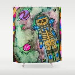 Muerte Espacial Shower Curtain