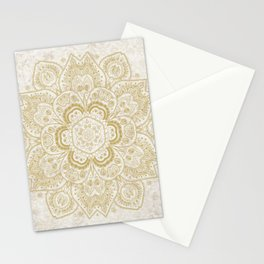 Mandala Temptation in Golden Yellow Stationery Cards