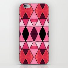 Art Deco Triangles Hot Pink iPhone Skin