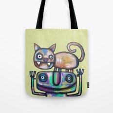 Juggler with Cat Tote Bag