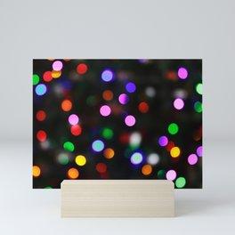 Bright Colored Christmas Lights Mini Art Print