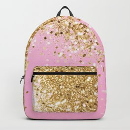 Gold Pink Glitter #1 (Faux Glitter) #shiny #decor #art #society6 Backpack