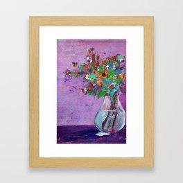 Flower Arrangement in Vase #1 Framed Art Print