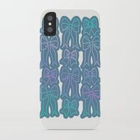 bows iPhone & iPod Cases featuring Bows by Jessica's Illustrationart