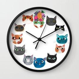 Cats, cats, cats! Wall Clock