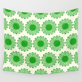 vintage flowers green Wall Tapestry