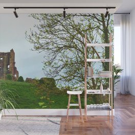 Corfe Castle and Trees-Dorset England Wall Mural