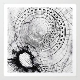 Split, Blasted, and Shattered Glass Film Strips Art Print