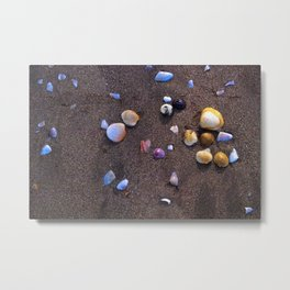 Rainbow Shells Metal Print