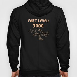 Fart Level 9000 Fart Funny Farting Funny saying Hoody