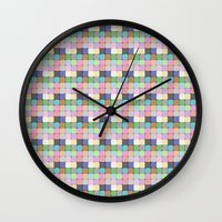 stained glass Wall Clocks featuring Stained Glass by Ana Guillén Fernández