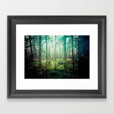 Nature Forest - Magical Green Framed Art Print