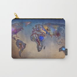 Stars world map. Blue. World map Carry-All Pouch
