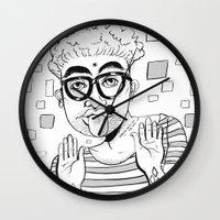 karma Wall Clocks featuring Karma  by Danielle Feigenbaum