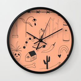 Orange Flash Sheet Wall Clock