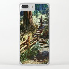 The Trail Less Traveled Clear iPhone Case