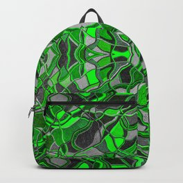 Abstract #8 - I - Neon Green Pop Backpack
