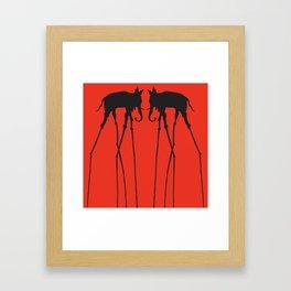 Salvador Dali Elephants Framed Art Print