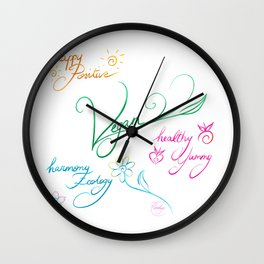 Vegan & happy lifestyle Wall Clock