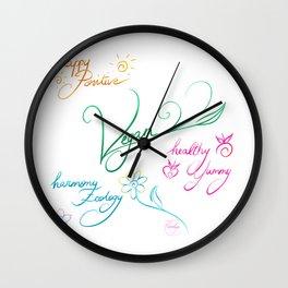 Vegan & happy lifestyle Wall Clock