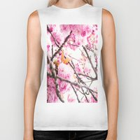 martell Biker Tanks featuring Seattle Blossoms by G Martell