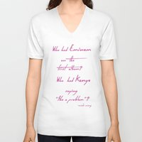 minaj V-neck T-shirts featuring Want Some More by Nicki Minaj Spain