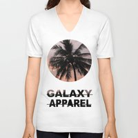 palm V-neck T-shirts featuring PALM by GALAXY APPAREL