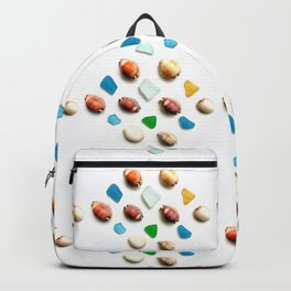 Sea Glass and Sea Shells Backpack