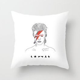 Bowie- Blackstar Throw Pillow