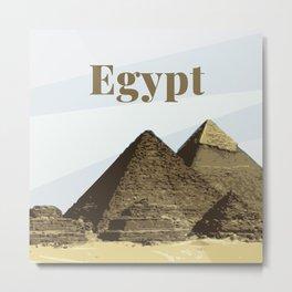 Pyramids of Giza Egypt Metal Print