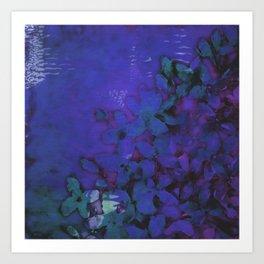 Lilac Hues Blues Art Print