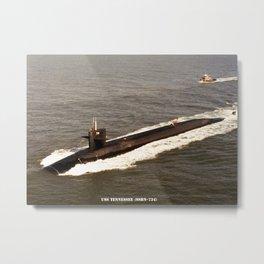 USS TENNESSEE (SSBN-734) Metal Print