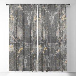 Galaxy (black gold) Sheer Curtain