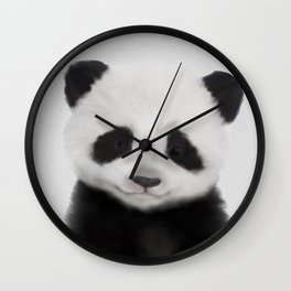 Baby Panda Print, Nursery Animal - Printable Wall Art - Kids Bedroom Poster, Boys Room Decor Wall Clock